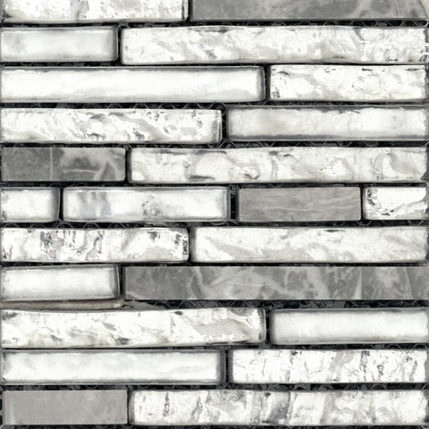 VISTA GLASS & STONE LINEAR BLENDS™ -  Glass & Stone Mosaic Tile by Emser Tile, Tile, Emser Tile - The Flooring Factory