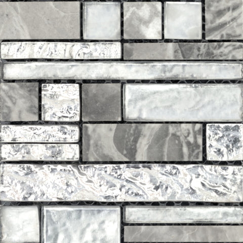 VISTA GLASS & STONE PATTERN BLENDS™ -  Glass & Stone Mosaic Tile by Emser Tile - Tile by Emser Tile
