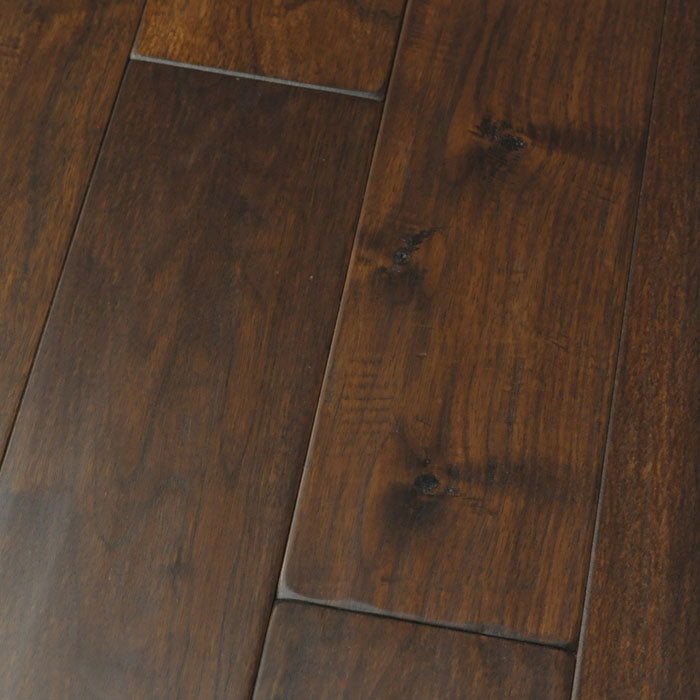 "Black Walnut Demitasse - Character Amish Soft Scraped Collection - 4"" Solid Hardwood Flooring by HomerWood - Hardwood by HomerWood"