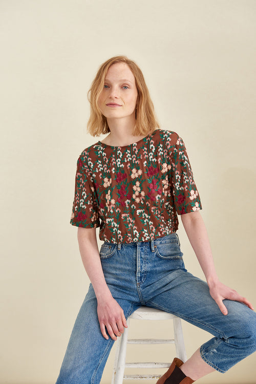 XS / Floral Embroidery