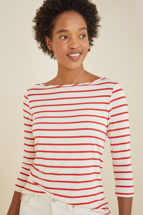 XS / Red Poppy Stripe