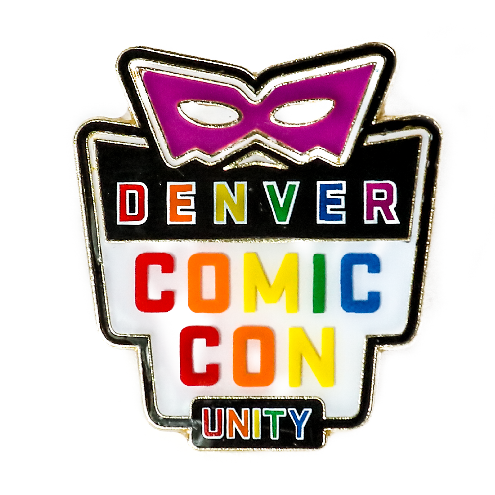 Denver Comic Con Logo Unity Pin