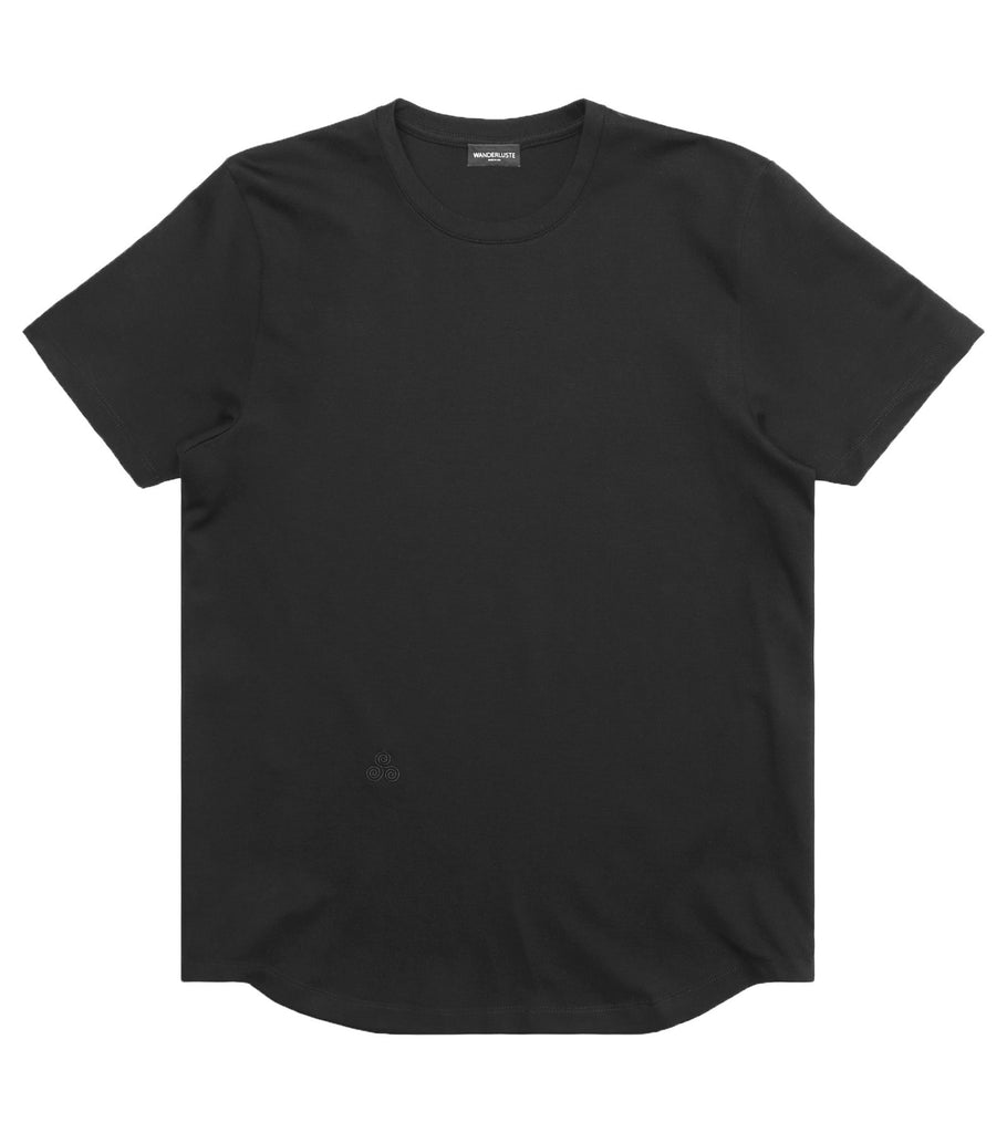 Heavyweight Curve Hem Tee - Black