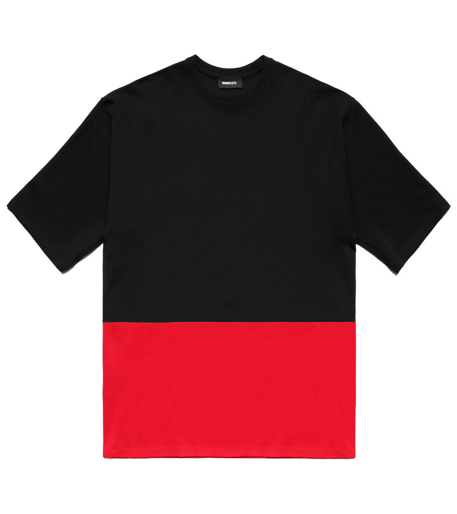 Color Block Wanderer Tee - Black/Red