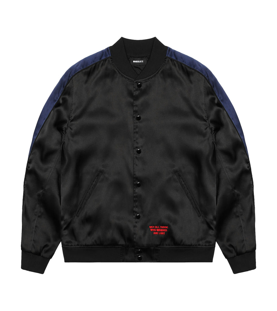 Night Rider Satin Bomber Jacket