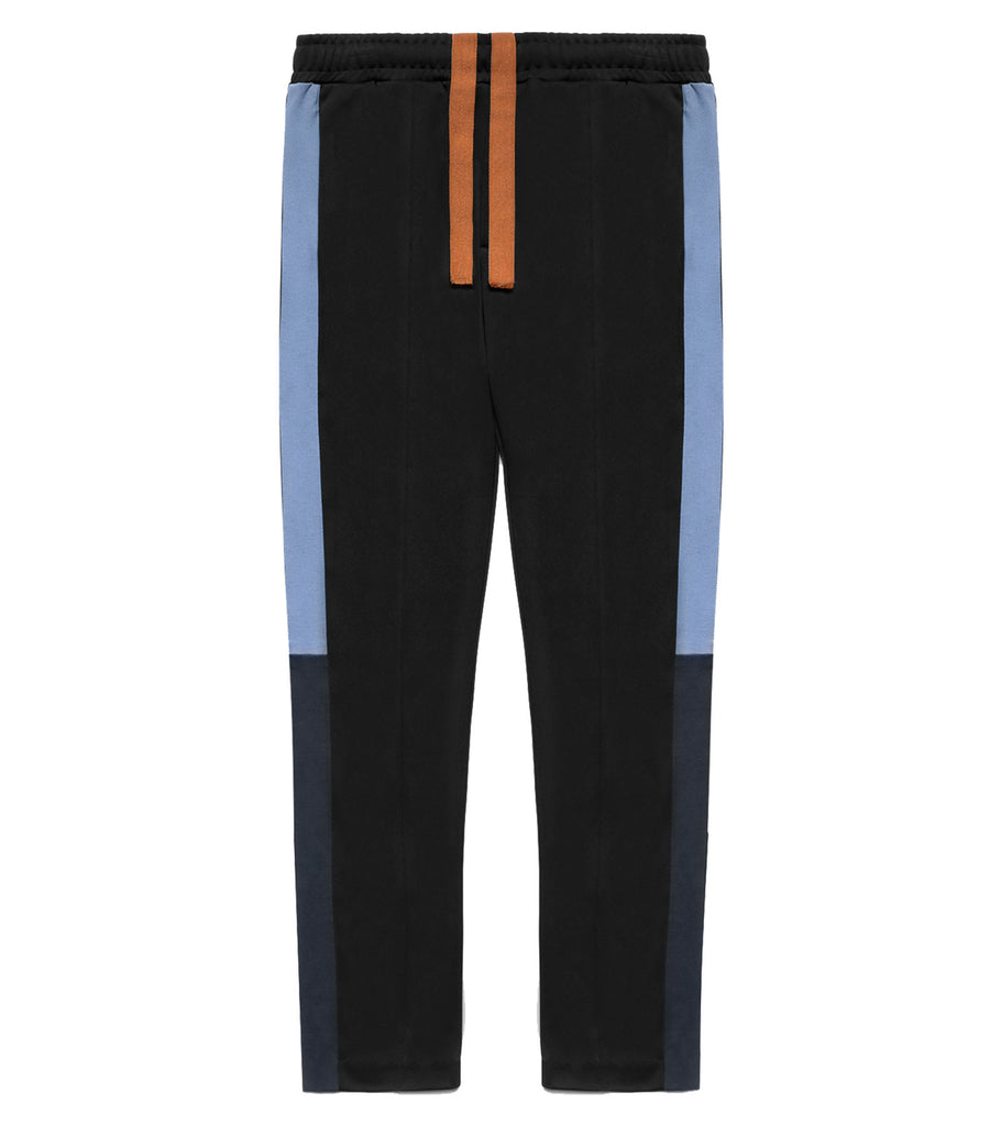 Color Block Track Trousers - Black/Blue