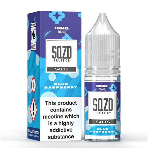 SQZD Salt E-Liquid Blue Raspberry - 10ml