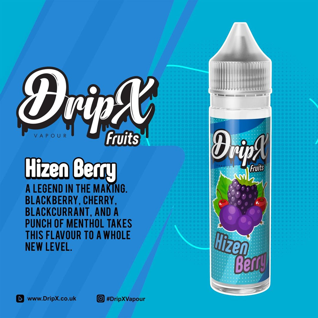 Hizen Berry by DripX Vapour - 50ml 0mg