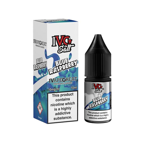Blue Raspberry Salt nicotine E-Liquid by IVG - 10ml