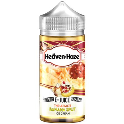 The Ultimate Banana Split Ice Cream by Heaven Haze - 100ml 0mg