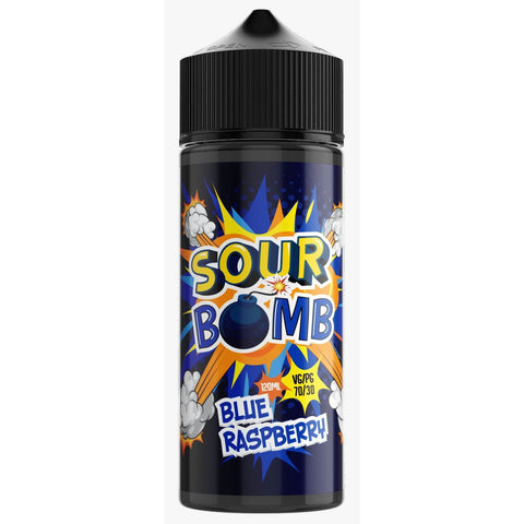 Blue Raspberry by Sour Bomb - 100ml 0mg
