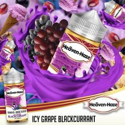 Icy Grape Blackcurrant by Heaven Haze - 100ml 0mg