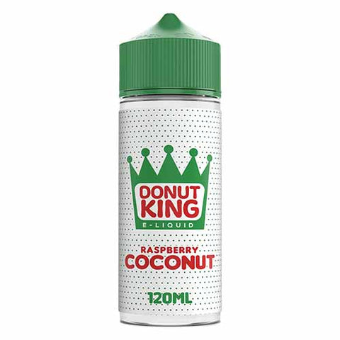 Raspberry & Coconut E-Liquid by Donut King - 100ml 0mg