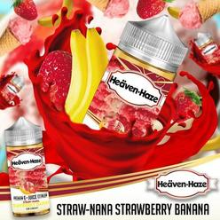 Straw-Nana Strawberry Banana by Heaven Haze - 100ml 0mg