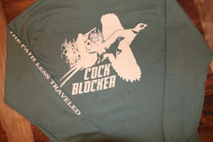 "20% OFF!! ""Cock Blocker"" Long Sleeve Tee"