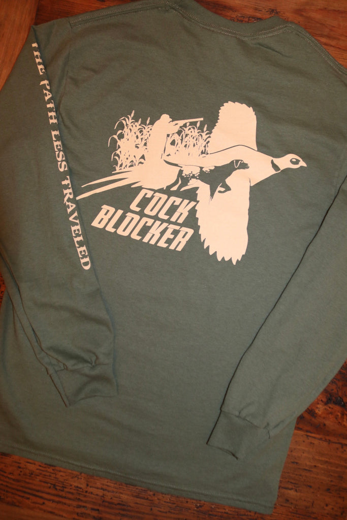 """Cock Blocker"" Long Sleeve Tee"