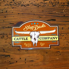 """Breeding Heifers Since '69"" Skull Decal"
