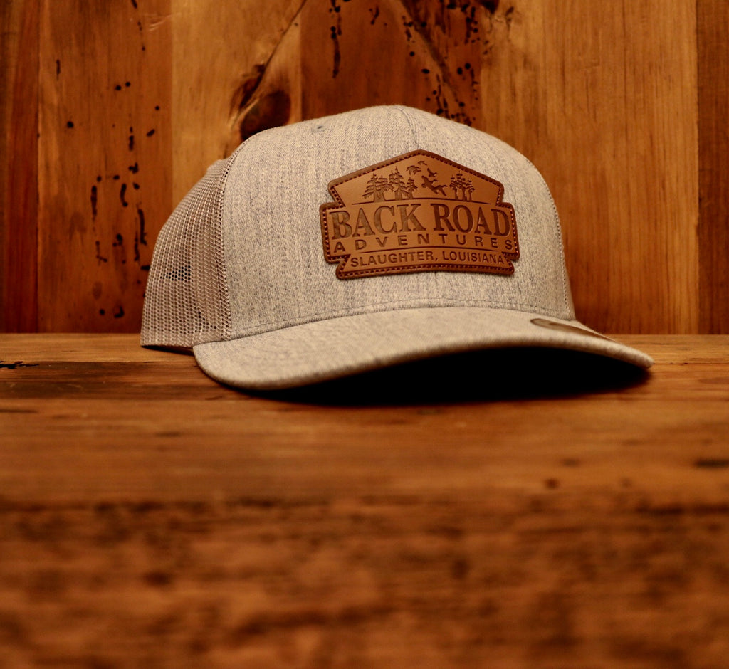 Back Road Adventures Classic Leather Patch Hat