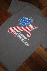 """Patriotic Flight Canceler"" Short Sleeve Tee"