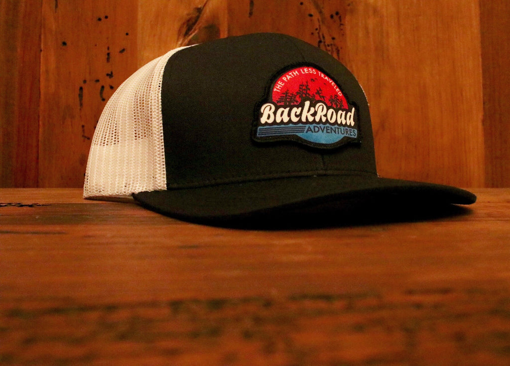 Back Road Adventures Sunset Swamp Logo Hat
