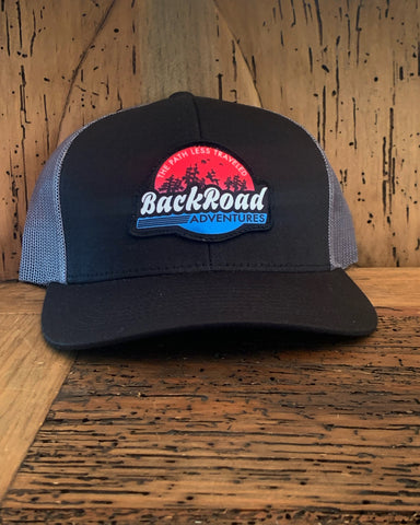"""Back Road Adventures Swamp Logo"" Snapback Hat - Sunset"