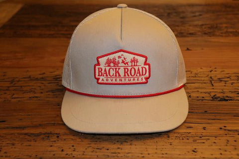 """Back Road Adventures Classic Patch"" Snapback Rope Hat"
