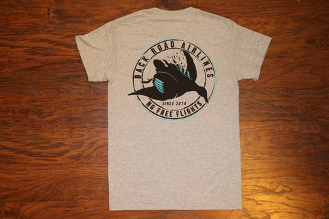 """Back Road Airlines"" Short Sleeve Pocket Tee"