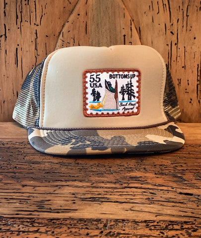 """Bottoms Up"" Foam Trucker Rope Hat"