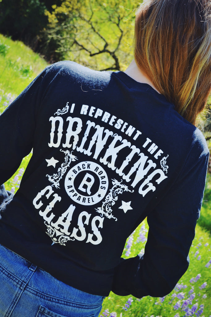 """Drinking Class"" Long Sleeve Tee"
