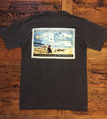 """Vintage Goose Stamp"" Short Sleeve Pocket Tee"