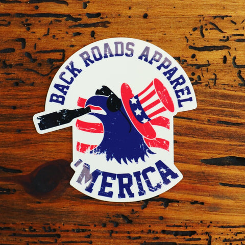 """Merican Eagle"" Sticker"