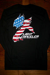 """Patriotic Flight Canceler"" Long Sleeve Tee"