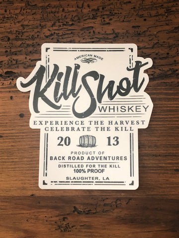 """Kill Shot Whiskey"" Label Sticker"