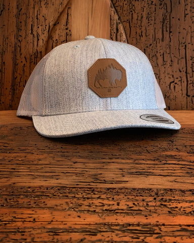 """The Plains"" Leather Patch Hat - Multiple Colors"