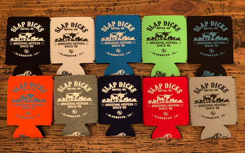 """Breeding Heifers Since '69"" Neoprene Coozie"