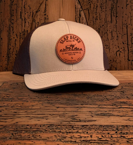 """Breeding Heifers Since '69"" Leather Patch Hat"