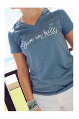 """Give Em Hell"" Ladies V-Neck Tee"
