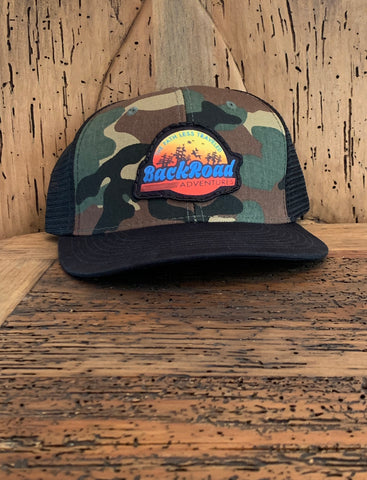"""Back Road Adventures Swamp Logo"" Camo Snapback"