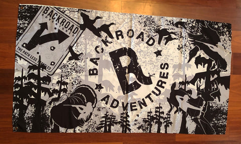 """Back Road Adventures"" Flag"