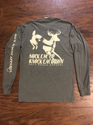 """Knock Em Down"" Long Sleeve Tee"