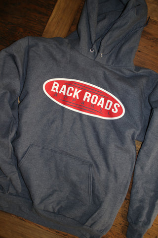 """Retro""  Heather Navy Hoodie"
