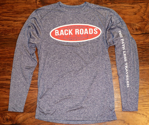 """Retro"" Heather Long Sleeve Dri Fit Tee"