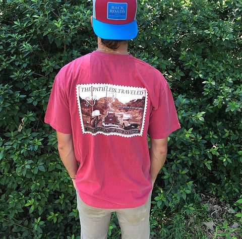 """Vintage Truck Stamp"" Short Sleeve Pocket Tee"