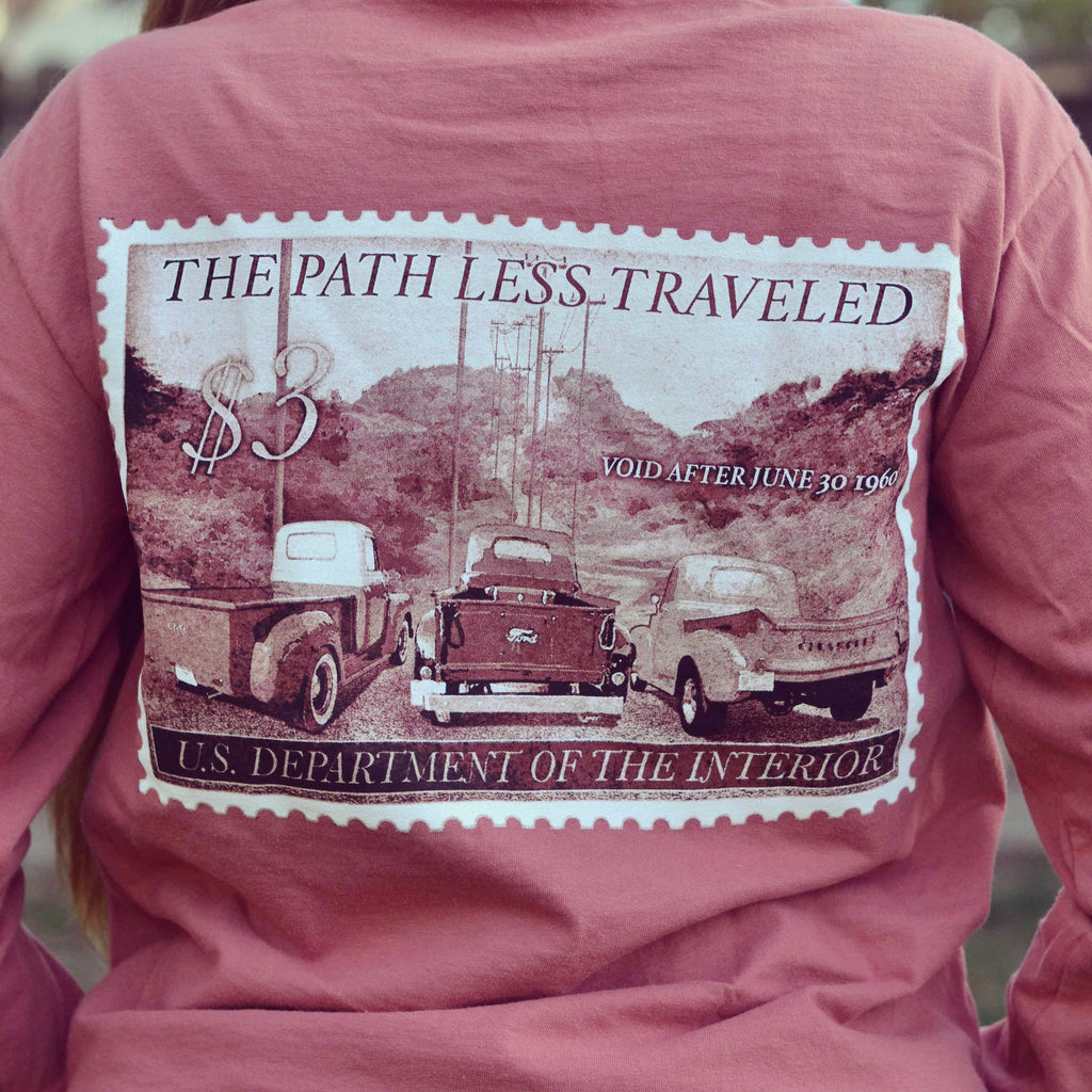 """Vintage Truck Stamp"" Long Sleeve Tee"