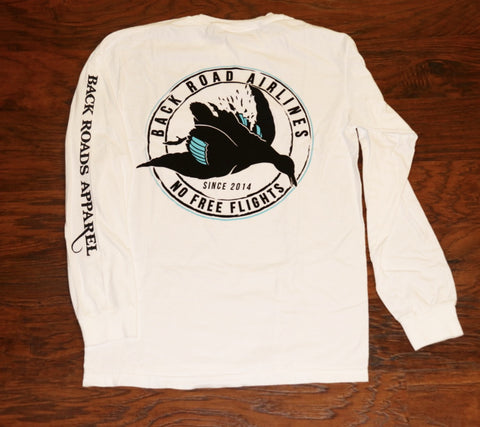 """Back Road Airlines"" Long Sleeve Pocket Tee"