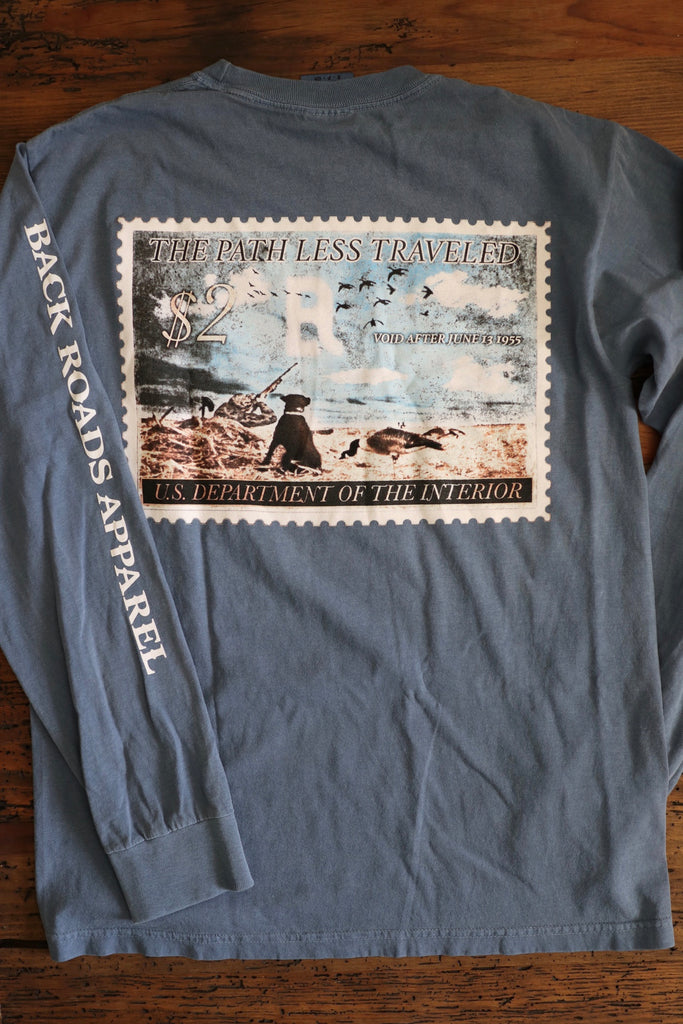 """Vintage Goose Stamp"" Long Sleeve Tee"