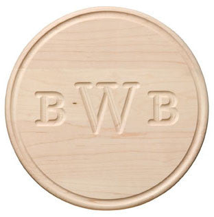 Round Wood Monogram Cutting Board