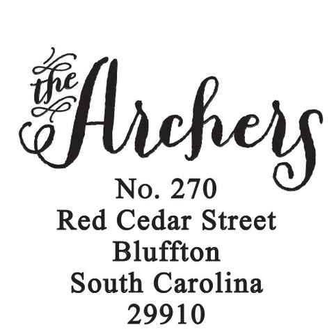 Archer Personalized Self-Inking Stamp