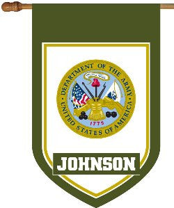 Personalized US Army House Flag
