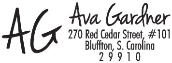 Ava Personalized Rectangular Stamp